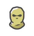 balaclava crime mask theft cartoon vector image
