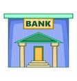 Bank icon cartoon style vector image