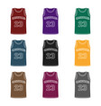basketball jerseybasketball single icon in black vector image