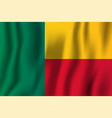 benin realistic waving flag national country vector image vector image