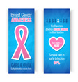 Breast Cancer Awareness Banners vector image vector image