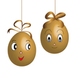character easter eggs vector image