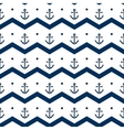 Chevron with anchors in blue and white seamless vector image vector image