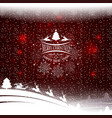 christmas sketch with a silhouette of christmas vector image vector image
