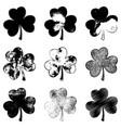 clover leaf monochromeset vector image vector image