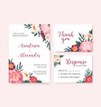 collection wedding invitation cards decorated vector image
