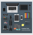 creative tool workspace isolated vector image vector image
