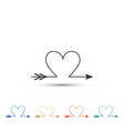 cupid arrow heart valentines day cards icon vector image vector image