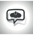 Curved cloud upload message icon vector image