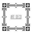 elegant antiquarian frame in art deco style vector image vector image