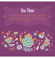 Elegant set of hand drawn tea and cakes banners vector image