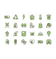 environment ecology icons collection line and fill vector image vector image