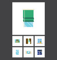flat icon window set of balcony glass frame and vector image vector image