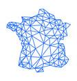 france map blue geometric polygonal design lines vector image vector image
