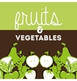 fruits and vegetables design vector image vector image