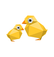 funny modern origami chickens vector image vector image