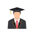 graduation man icon design template vector image