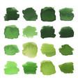 green blots watercolor set vector image vector image
