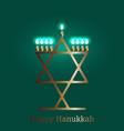 hanukkah 2-10 december judaic holiday vector image