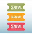 happy brazilian carnival day set of 3 carnival vector image vector image