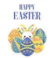 Happy easter greeting background with egg around