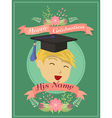 Happy Graduation Green Boy Greeting Card vector image vector image