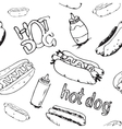 Hot Dogs Seamless Pattern vector image vector image