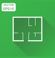 house plan icon business concept room plan vector image