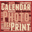 How To Personalize Your Photo Calanders Part 1 vector image vector image