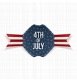 Independence Day 4th of July festive Label vector image vector image