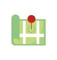 land location pin gps map and navigation vector image vector image