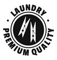 laundry premium quality logo simple style vector image