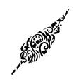 Leaf tatoo vector image vector image