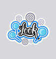 look sticker social media network message badges vector image vector image