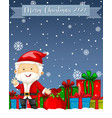 merry christmas 2020 font logo with santa claus vector image vector image