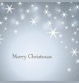 merry christmas gray background with text stars vector image