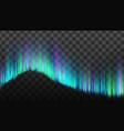 northern aurora lights strips borealis vector image vector image