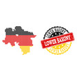pixelated map of lower saxony state colored in vector image vector image