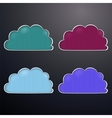 retro clouds vector image vector image