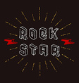 Rock Star badge - original lettering with vector image