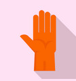 rubber glove icon flat style vector image vector image
