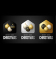 set luxury gold merry home christmas 2020 card vector image