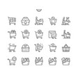 shopping cart shop supermarket marketing vector image vector image