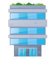 single building made of bricks vector image vector image