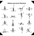 Skeletons in yoga poses vector image vector image