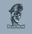 skull in uniforms with the inscription dead head vector image vector image