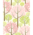 spring forest - seamless pattern vector image vector image
