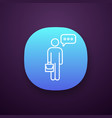 thinking businessman app icon vector image
