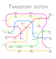 transport system railroad road metro design vector image vector image