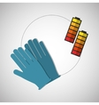 Under construction design supplies icon glove vector image vector image